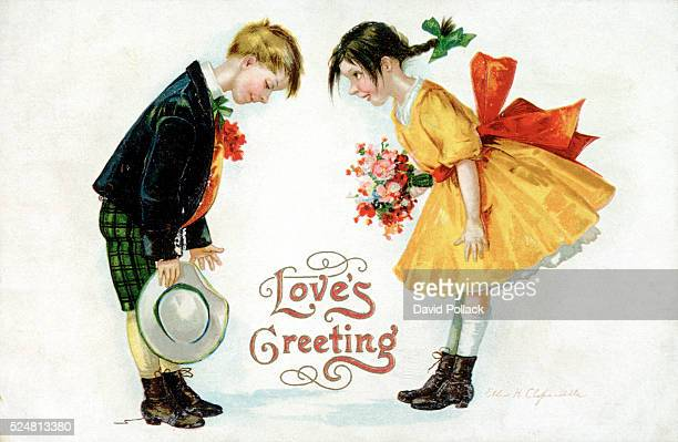 Love's Greeting Postcard by Ellen H Clapsaddle