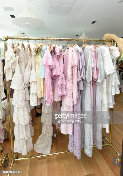 LoveShackFancy display at the Hamptons Magazine London Jewelers Luxury Shopping Afternoon at Topping Rose House on July 18 2018 in Bridgehampton New...