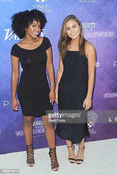 Lovie Simone and Desiree Ross attend Variety's Power of Young Hollywood at NeueHouse Los Angeles on August 16 2016 in Hollywood California
