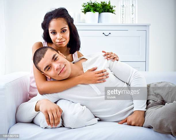 loving african amercian couple - izusek stock photos and pictures