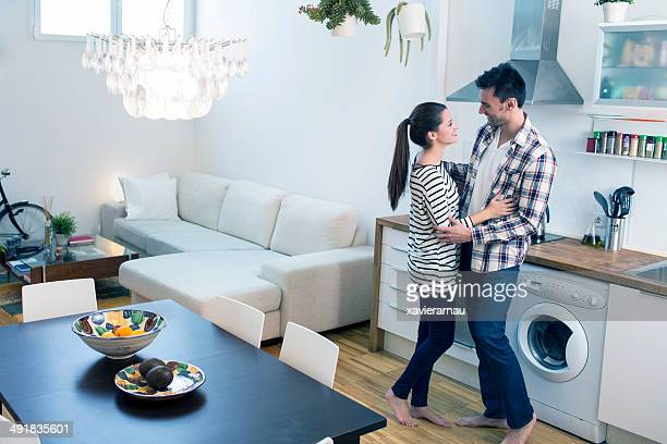 Loving couple at home