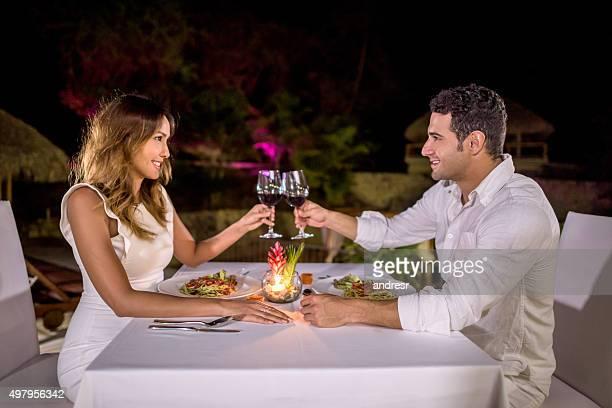 Loving couple celebrating their anniversary
