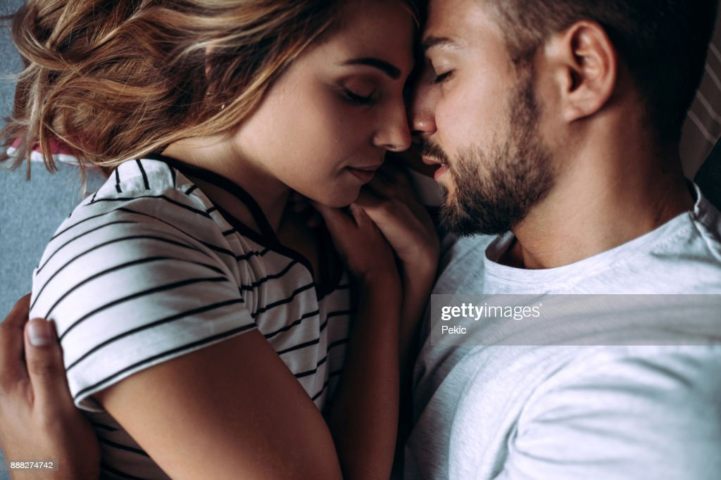 Loving Couple In Consoling Embrace : Stock Photo