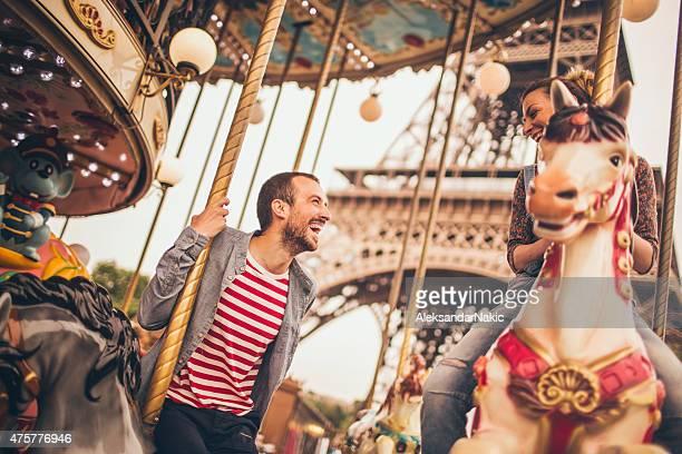 Loving couple in Paris