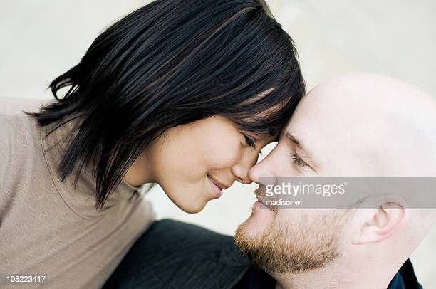 Loving Couple Looking Into Each Others Eyes