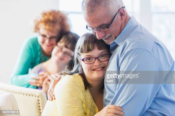 Loving family, daughters with down syndrome