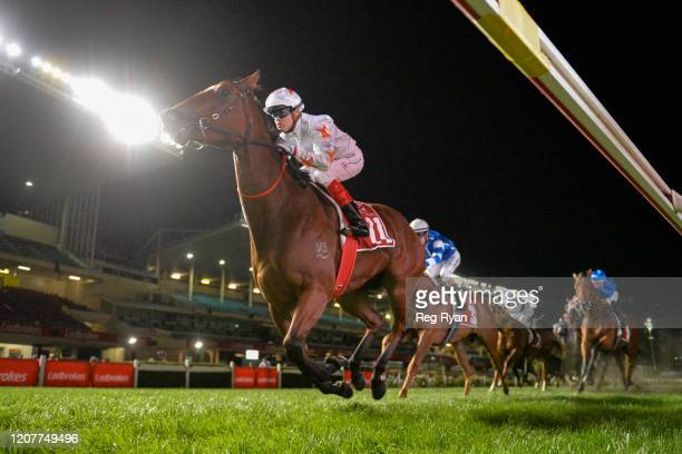 Loving Gaby ridden by Craig Williams wins the Keogh Homes William Reid Stakes ,at Moonee Valley Racecourse on March 20, 2020 in Moonee Ponds,...