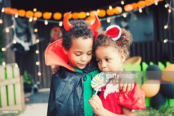 loving halloween - halloween kids stock photos and pictures