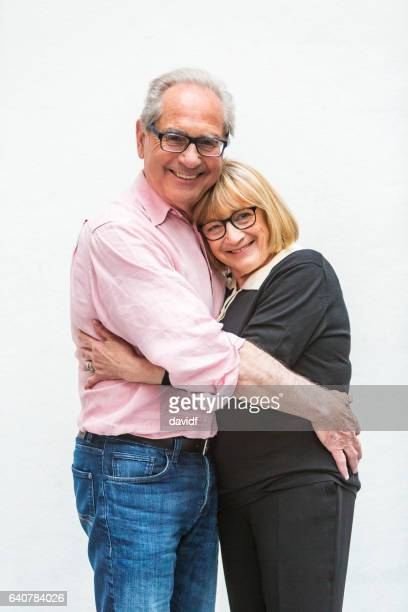 Loving Happy Active Senior Couple Hugging