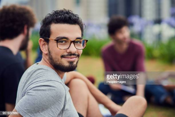 loving life on campus - brazilian men stock photos and pictures