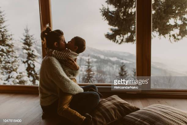 loving my mom - log cabin stock pictures, royalty-free photos & images