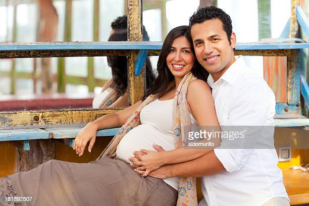 Loving pregnant couple
