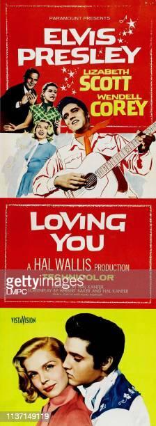 Loving You, poster, top from left: Wendell Corey, Dolores Hart, Lizabeth Scott, Elvis Presley, bottom from left: Lizabeth Scott, Elvis Presley on...