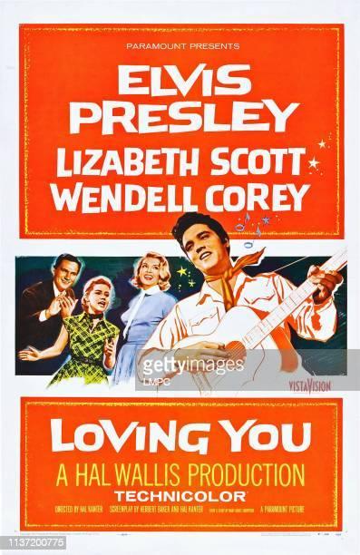Loving You, poster, US poster art, Wendell Corey, Dolores Hart, Lizabeth Scott, Elvis Presley, 1957.