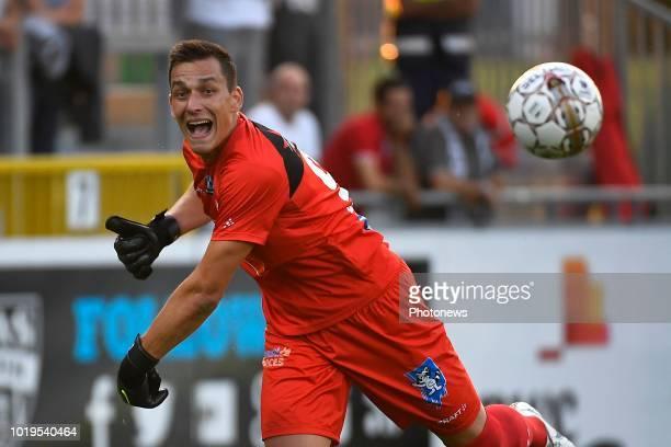 Lovre Kalinic goalkeeper of KAA Gent during the Jupiler Pro League match between KAS Eupen and KAA Gent on August 19 2018 in Eupen Belgium