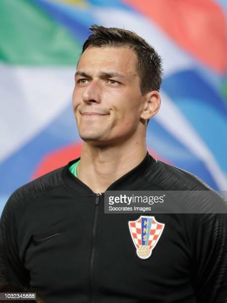 Lovre Kalinic of Croatia during the UEFA Nations league match between Spain v Croatia at the Estadio Manuel Martínez Valero on September 11 2018 in...
