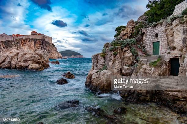 lovrijenac fortress - アドリア海 ストックフォトと画像