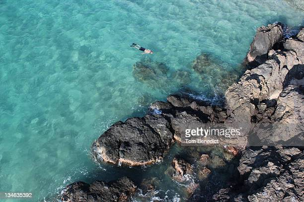 low altitude - hapuna beach stock photos and pictures