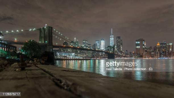 A low angle capture of Brooklyn Bridge