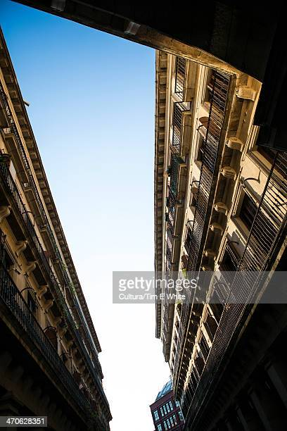 Low angle of building exterior, Madrid, Spain