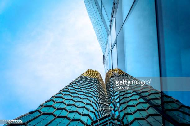 low angle of buildings in sanlitun - tokyo midtown stock pictures, royalty-free photos & images
