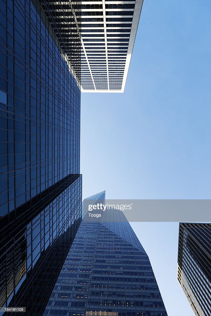 Low angle of city buildings : Stock-Foto
