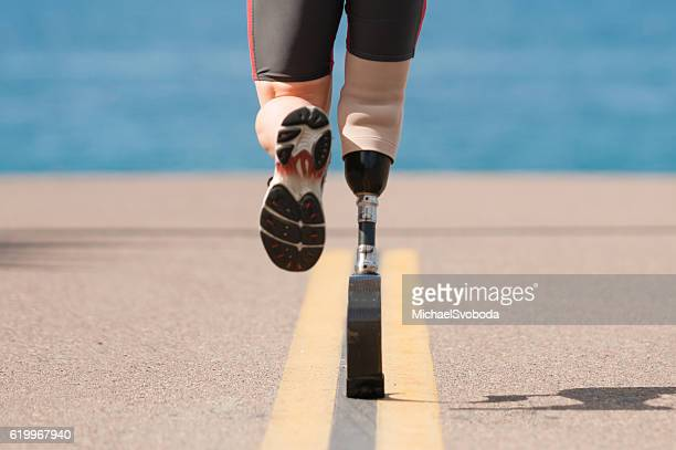 Low Angle Of Prosthetic Leg Running