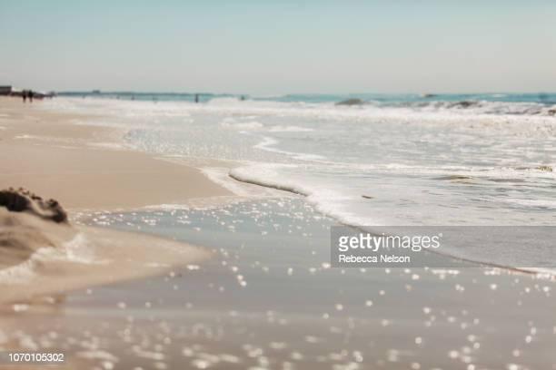 Low angle seascape of a beach on Dauphin Island, Alabama