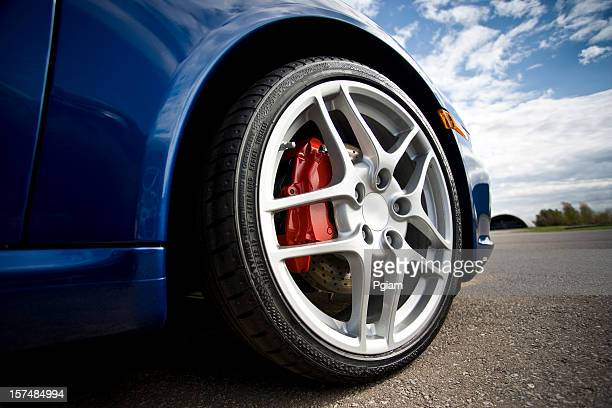 Low angle sports car tire