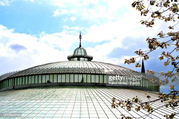 low angle view conservatory - karen mckay stock pictures, royalty-free photos & images