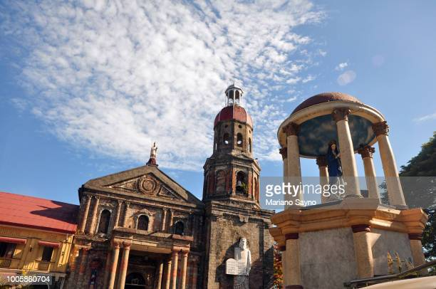 low angle view in front of a church - old manila stock pictures, royalty-free photos & images