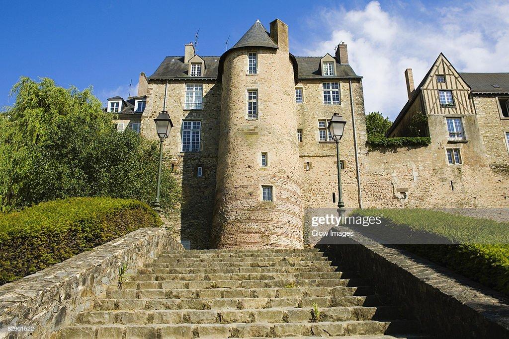 Low angle view of a building, La Tour de Lestang, Le Mans, France : Stock Photo
