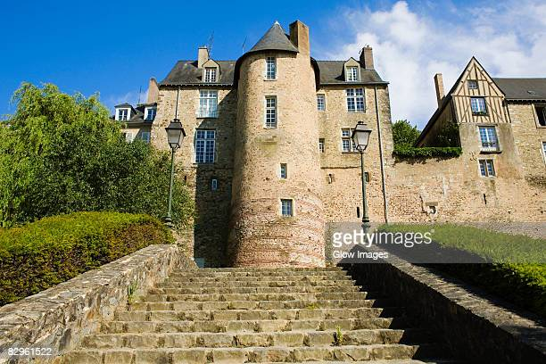 low angle view of a building, la tour de lestang, le mans, france - sarthe stock pictures, royalty-free photos & images