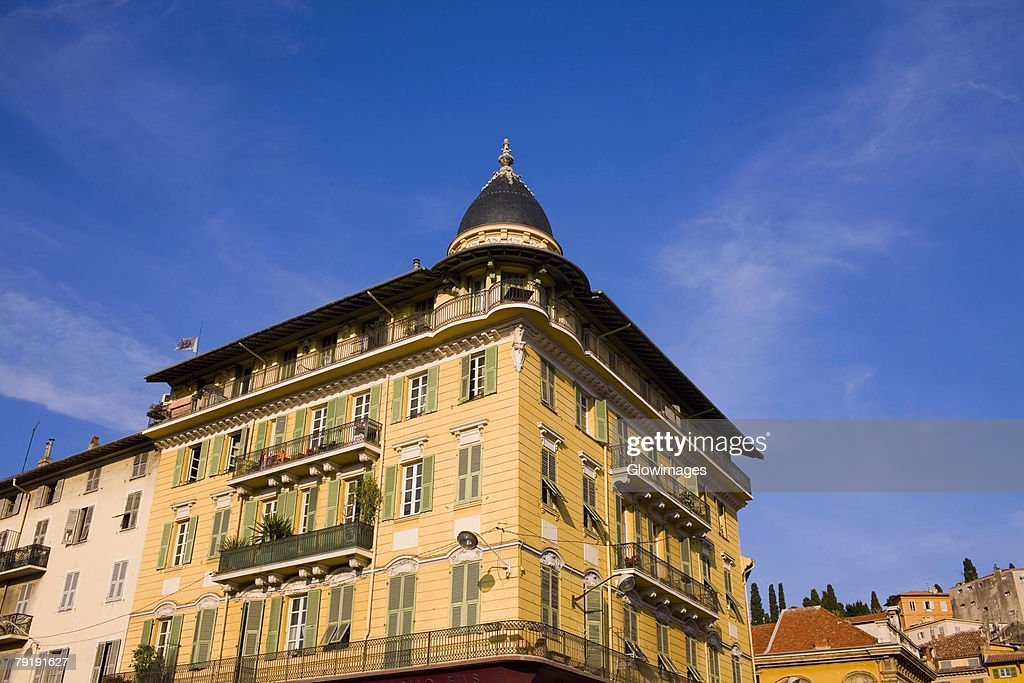 Low angle view of a building, Nice, France : Foto de stock
