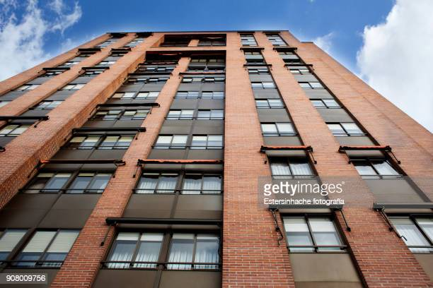 low angle view of a building of the city of valladolid (spain) - building story stock pictures, royalty-free photos & images