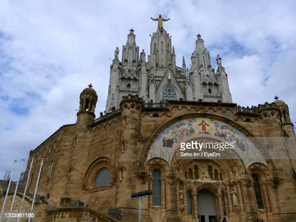 low angle view of a building, sagrat cor - sagrat cor stock pictures, royalty-free photos & images
