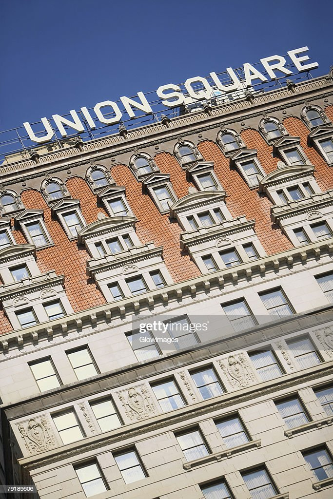 Low angle view of a building, Union Square, New York city, New York State, USA : Stock Photo