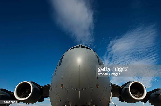 Low angle view of a C-17 Globemaster III.