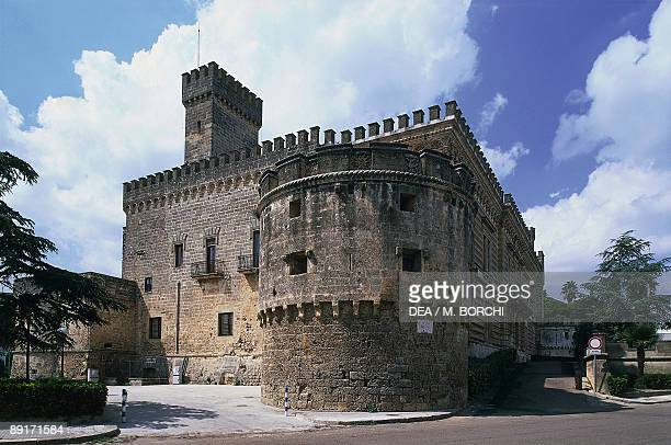 Low angle view of a castle Castle of Acquaviva Nardo Lecce Puglia Italy