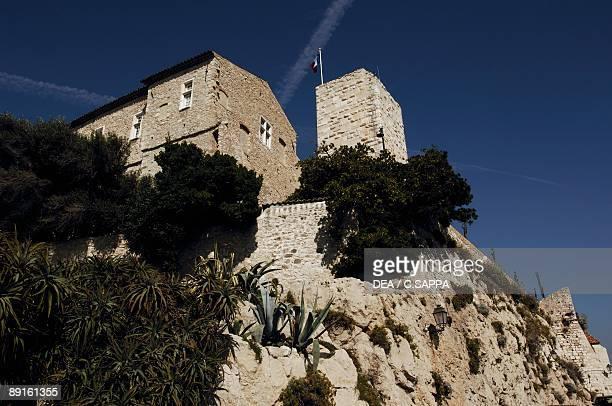 Low angle view of a castle Grimaldi Castle Picasso Museum Antibes ProvenceAlpesCote D'azur France