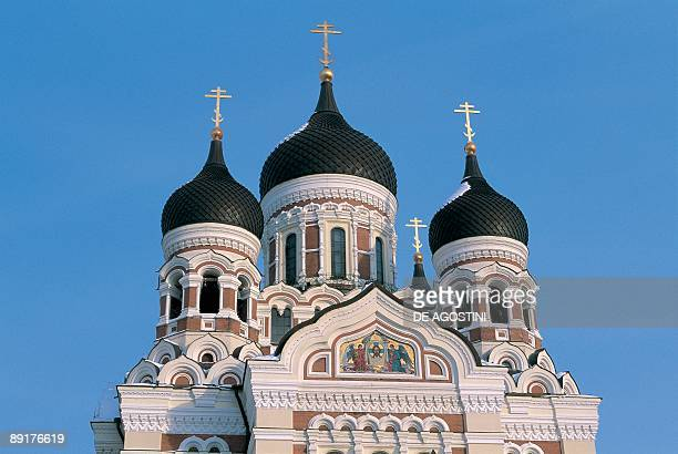 Low angle view of a cathedral St Alexander Nevski Cathedral Tallinn Estonia