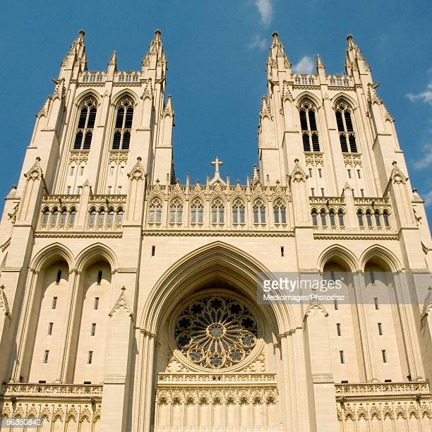 Low angle view of a cathedral, Washington National Cathedral, Washington DC, USA