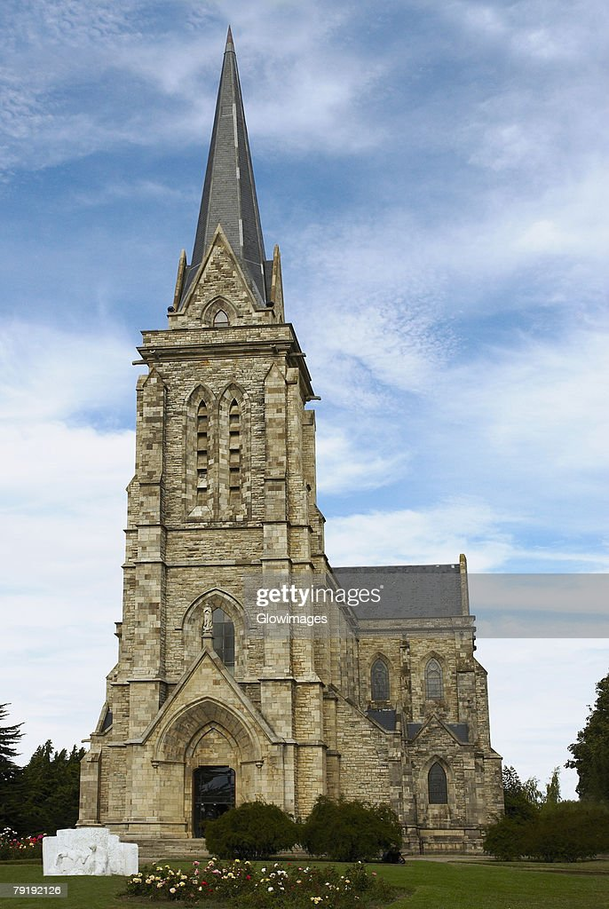 Low angle view of a church, Church of Our Lady Nahuel Huapi, San Carlos De Bariloche, Argentina : Stock Photo