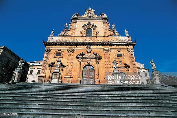 Low angle view of a church Duomo Di San Pietro Modica Sicily Italy