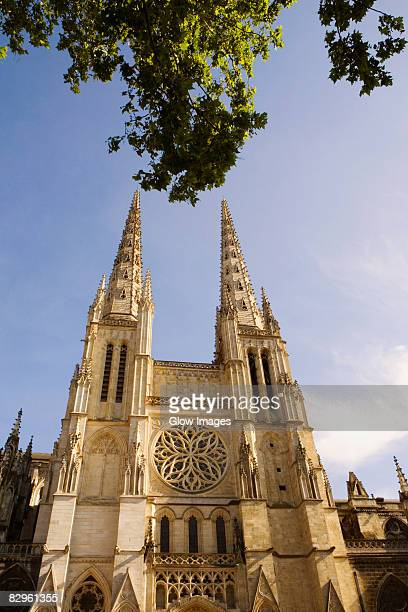 Low angle view of a church, St. Andre Cathedral, Bordeaux, Aquitaine, France