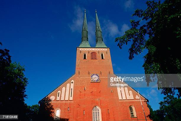low angle view of a church, vaxjo, sweden - vaxjo stock pictures, royalty-free photos & images