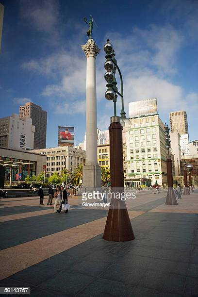 'Low angle view of a column, Union Square, San Francisco, California, USA'