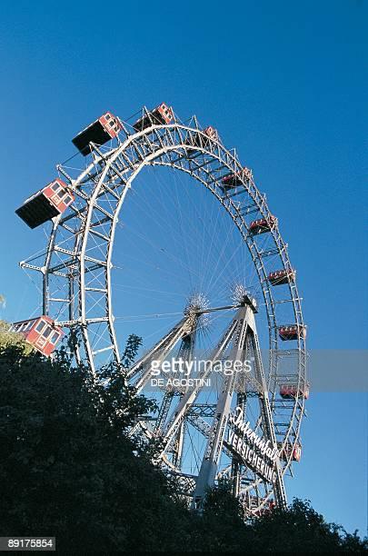 Low angle view of a ferris wheel Prater Park Vienna Austria