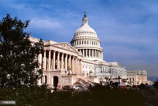 low angle view of a government building, capitol building, washington dc, usa - united states congress stock pictures, royalty-free photos & images