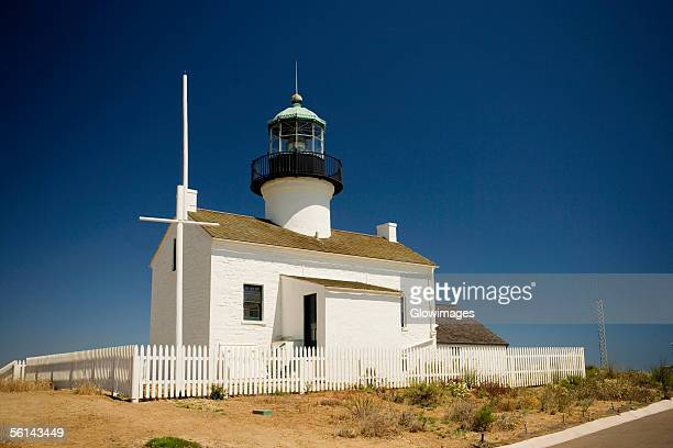 """Low angle view of a lighthouse, Point Loma Lighthouse, Cabrillo National Monument, California, USA"""